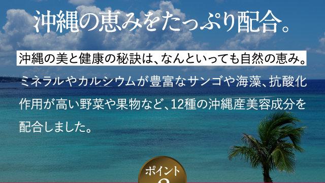 沖縄の恵みをたっぷり配合。